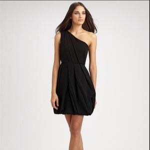 NWT Shoshanna One Shoulder Dress Bubble Hem NAVY